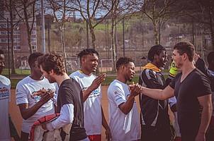 Freunde statt Fremde (Foto: SC Freiburg).